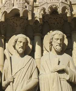 Gothic Sculpture On Notre Dame Paris