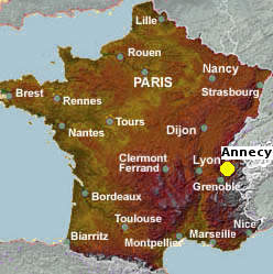 Map Of France Near Geneva.Annecy City Guide Essential Visitor Information In English