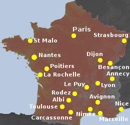 Map Of France With City Names.The Most Interesting Cities In France