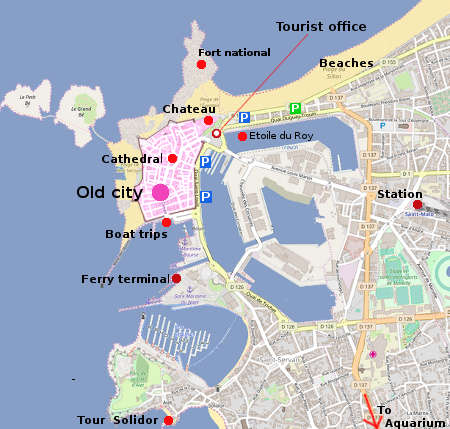 St Malo Map Saint Malo city guide   essential visitor information in English
