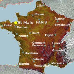 Saint Malo France Map Saint Malo city guide   essential visitor information in English