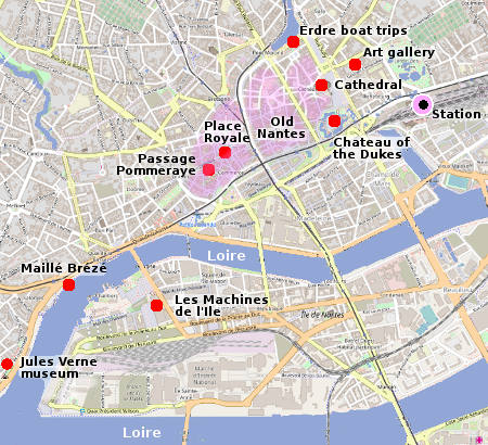 Map Of France Nantes.Nantes City Guide Essential Visitor Information In English