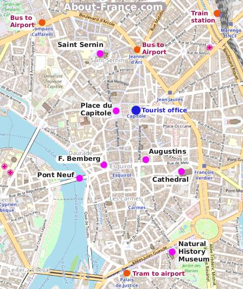 The Map Of France With The City.Toulouse City Guide Essential Visitor Information In English