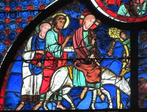 Mediaeval stained glass Laon