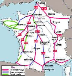 Routes through France