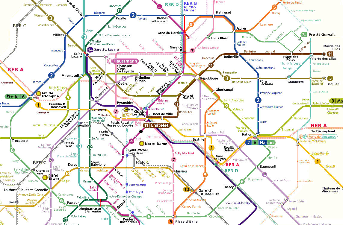 Paris Plan Metro
