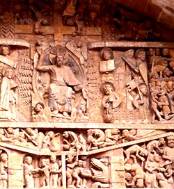 Carved tympanum, Conques