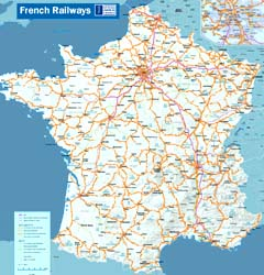 Map of French railways