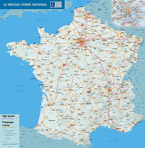 Map of French rail network