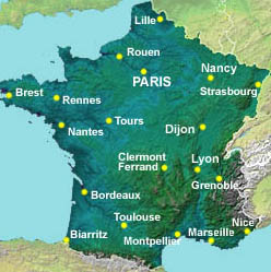 Journeyplanner France routefinder map driving distances