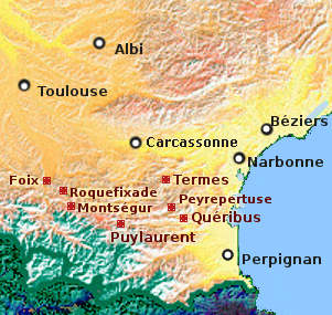 Map of Cathar country
