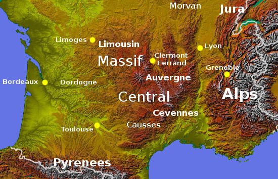 Mountains Of France Map.Upland And Mountain France A Short Guide
