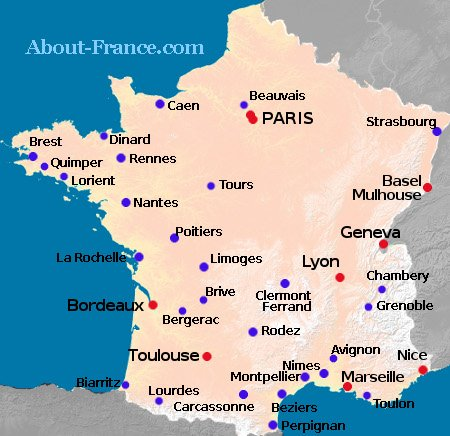 Map Of North West France.Flights To France A Full List Of Uk France Air Routes