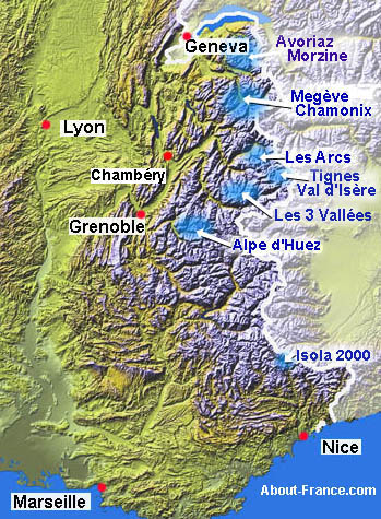 Ski resorts in the French Alps