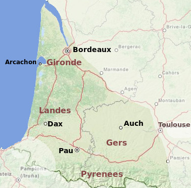 Gascony area guide and tourist attractions