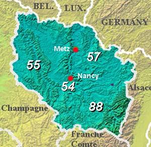 Map of Lorraine