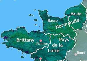 Map Of Northwest France.Northwest France A Short Area Guide For Visitors