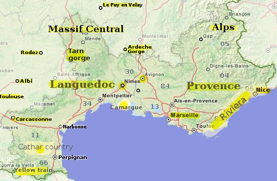 Provence Map Of France.The South Of France An Essential Travel Guide