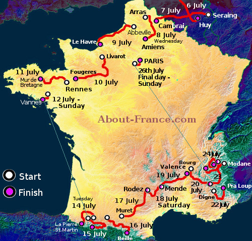 tour de france 2015 km total