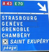 French motorway sign