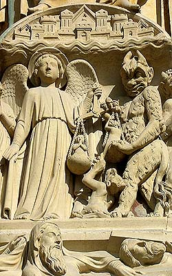 Notre Dame de Paris - detail from tympanum