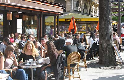 The Paris life - relaxing at a pavement café