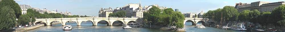 Paris and the river Seine
