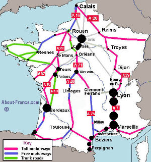 Motorway Map Of France.The Busiest Days On The Roads In France 2019