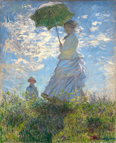 Madame Monet with parasol