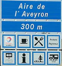 French motorway service area signs