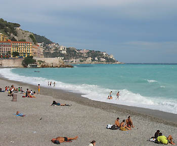 Beach at Nice - Promenade des anglais
