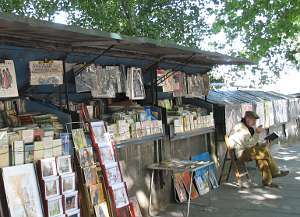 Bouquiniste on the quais