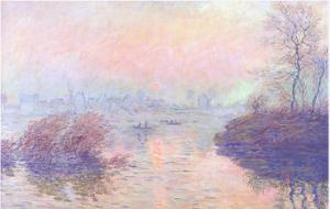 View of the Seine by Monet