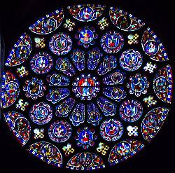 Rose window Chartres