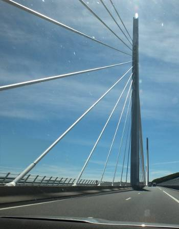 Millau-viaduct driver's view