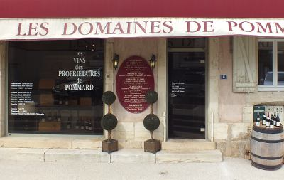 Producers' wine store in the village of Pommard