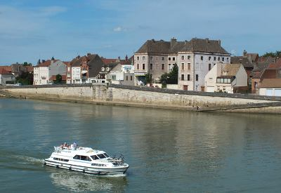 The Saone at Seurre, Burgundy