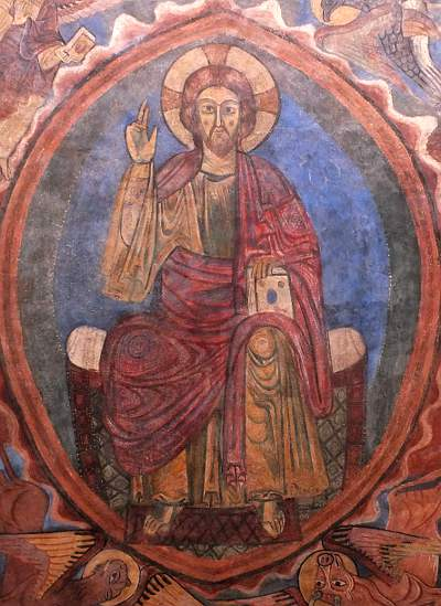 Medieval christ in glory - St Julian's basilica Brioude