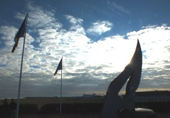 Memorial on Sword Beach