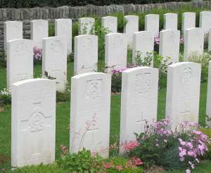 War graves in France