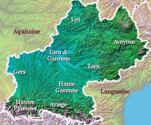Regional Map Of France In English.The Midi Pyrenees Area Guide And Tourist Attractions About France Com