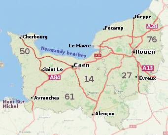 Map Of Normandy France Normandy tourist information and attractions | About France.com