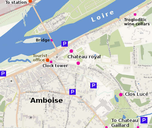 Amboise France Map.Amboise On The Loire A Short Guide