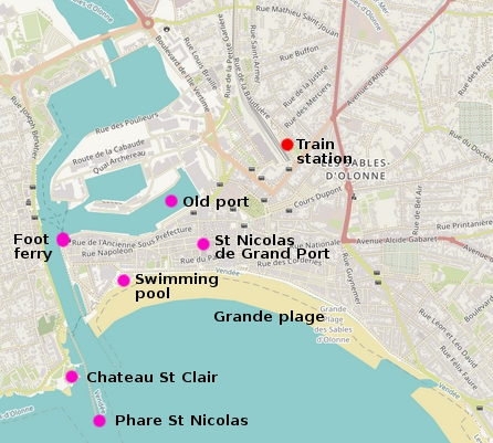 Map Of France Vendee.Les Sables D Olonne Sand Sea Surf Sailing On The Atlantic Coast